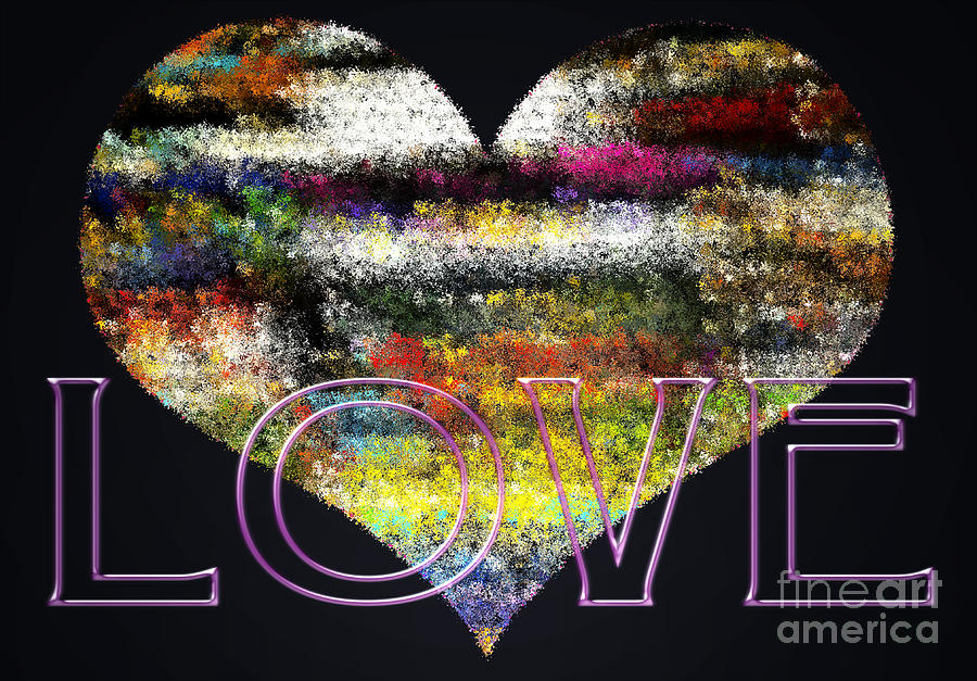 Love Digital Art - Your Heart Is My Pinata by Gwyn Newcombe