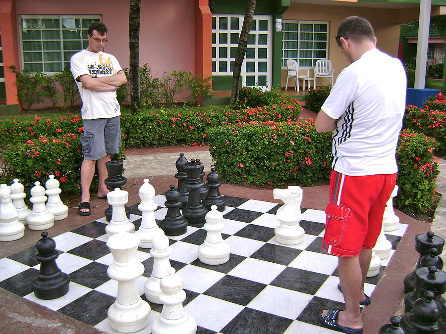 Men Photograph - Your Move by Laurel Fredericks