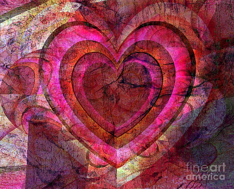 Fania Simon Mixed Media - Your Own Heart by Fania Simon