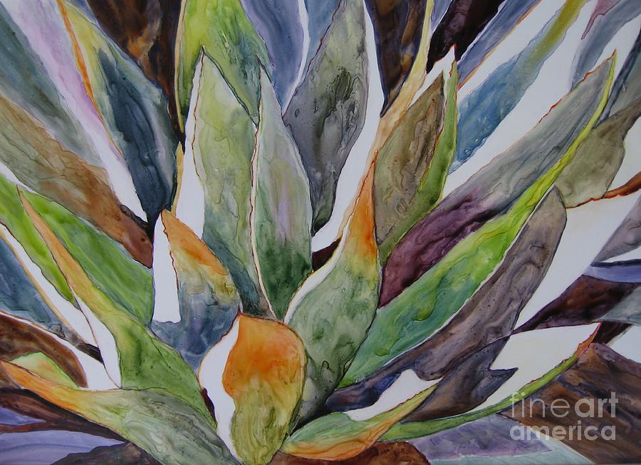 Yupo - Agave by Vicki Brevell