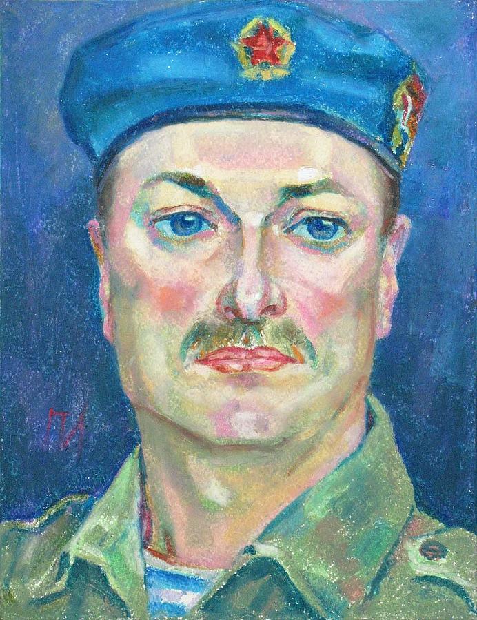 Portrait Painting - Yura Marochkin by Leonid Petrushin