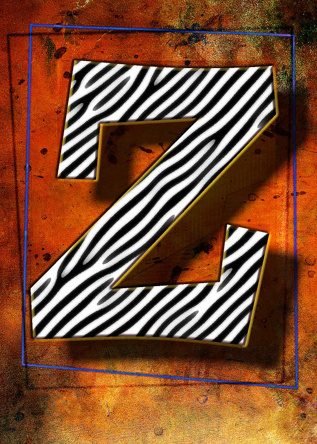 Framed Pyrography - Z by Mauro Celotti