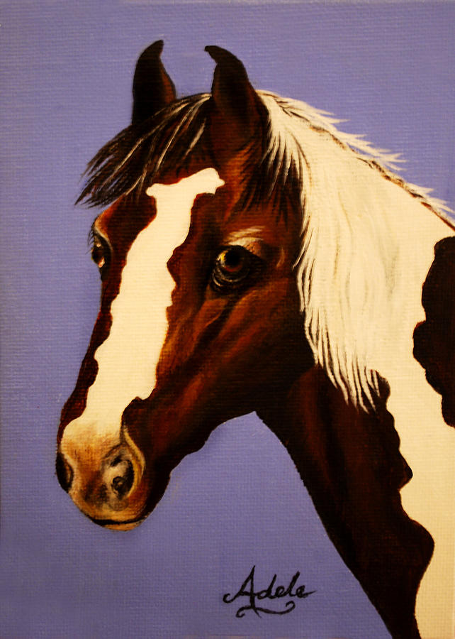 Horse Painting - Zachariah by Adele Moscaritolo