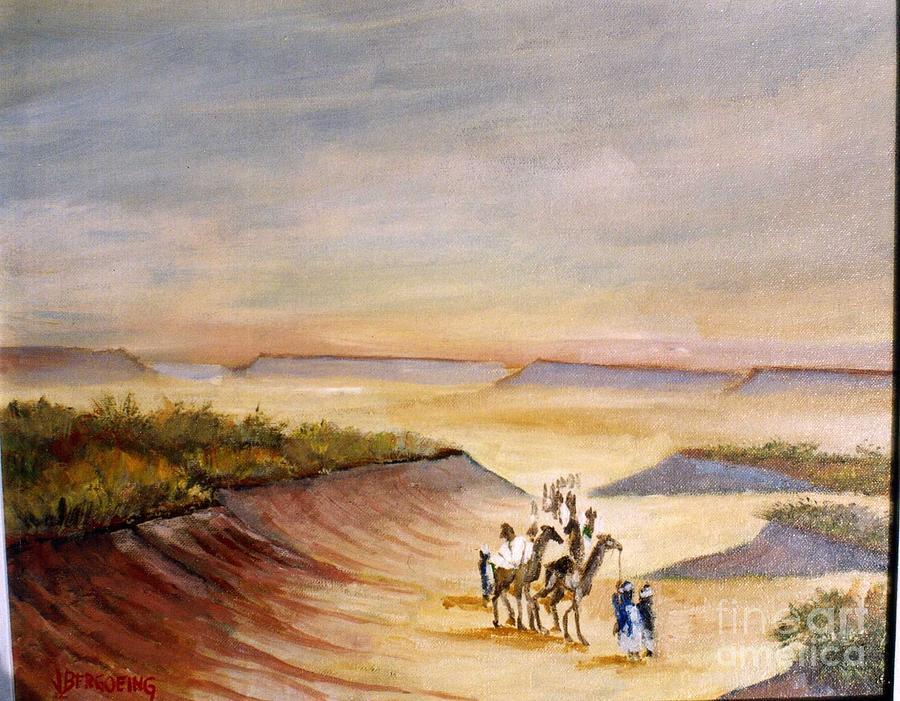 Camels Painting - Zamargande by Jean Pierre Bergoeing