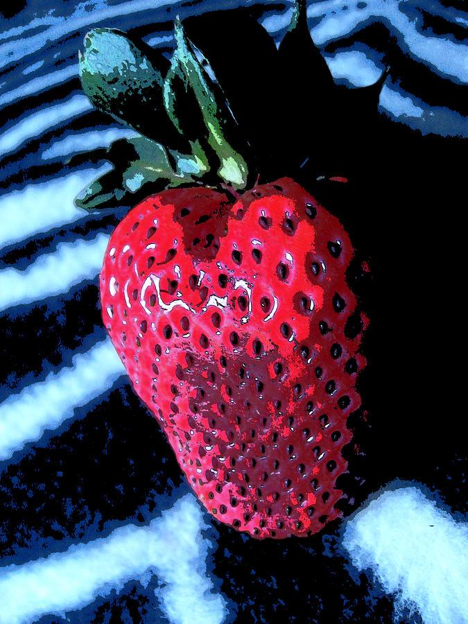 Strawberry Photograph - Zebra Strawberry by Kym Backland