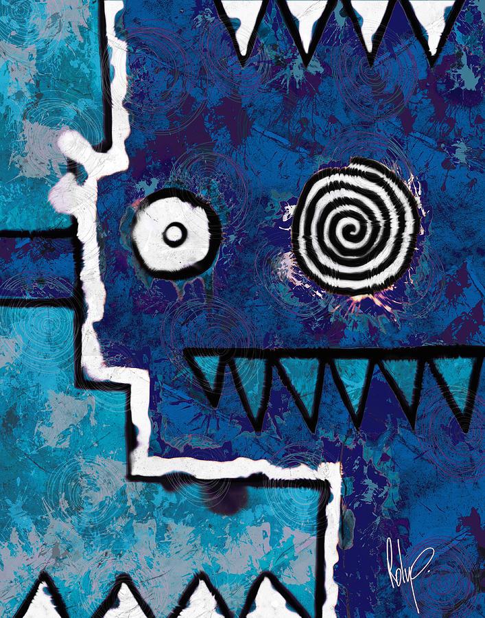 Zeeko - Blue And Aqua Painting by Roly Orihuela