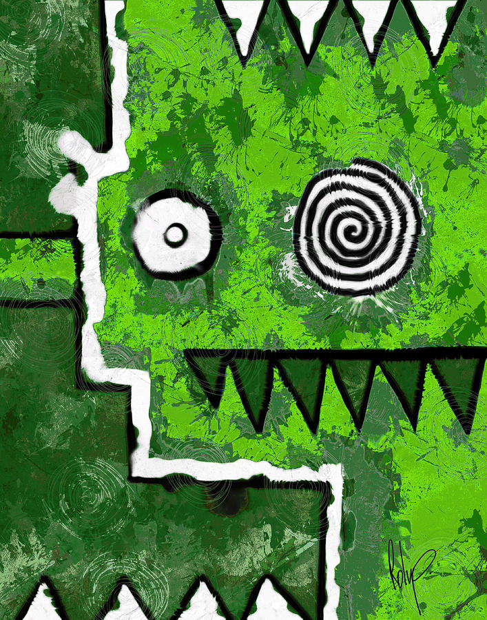 Zeeko Painting - Zeeko - Green by Roly Orihuela