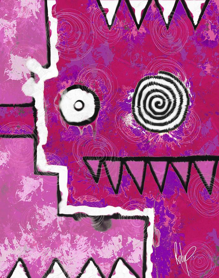 Zeeko Painting - Zeeko - Pink by Roly Orihuela