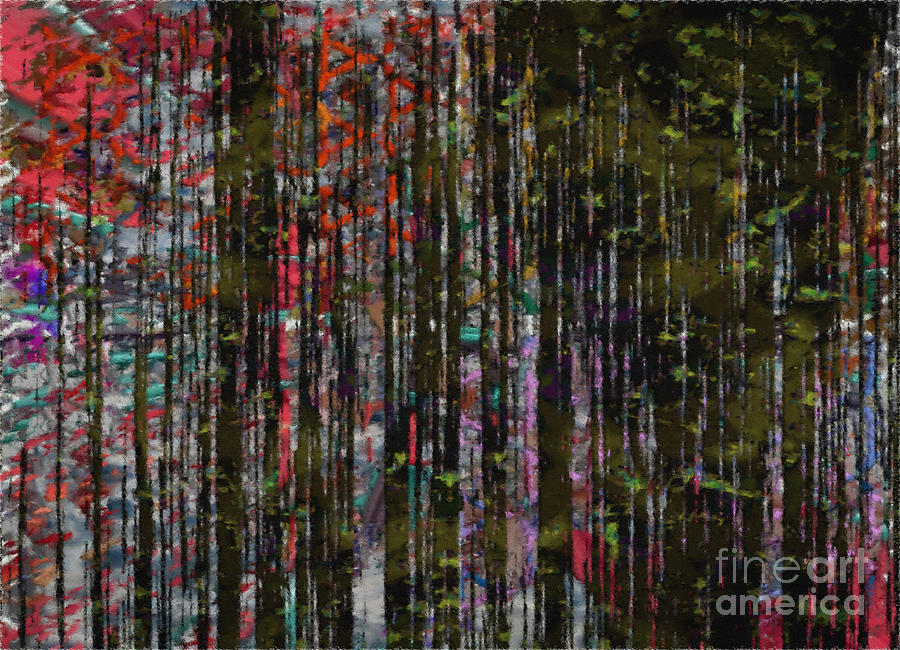 Zen Forest Abstract Art Painting by J Burns