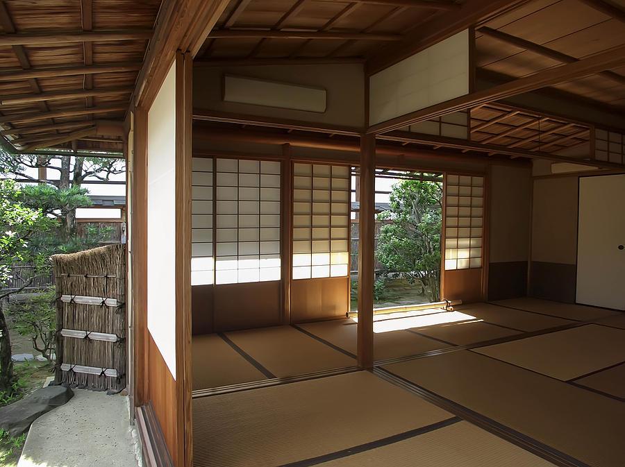 Zen Photograph - Zen Meditation Room Open To Garden - Kyoto Japan by Daniel  Hagerman