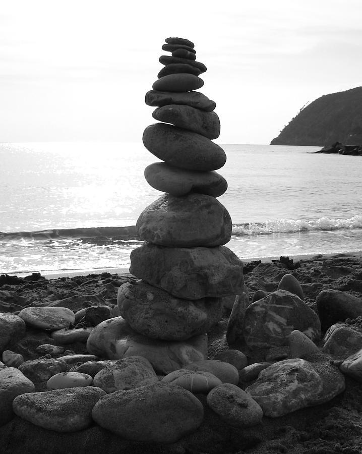 Beach Photograph - Zen Tower by Ramona Johnston