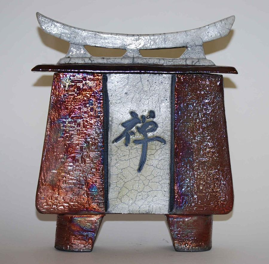 Raku Ceramic Art - Zen Vessel - Med by Victoria Page