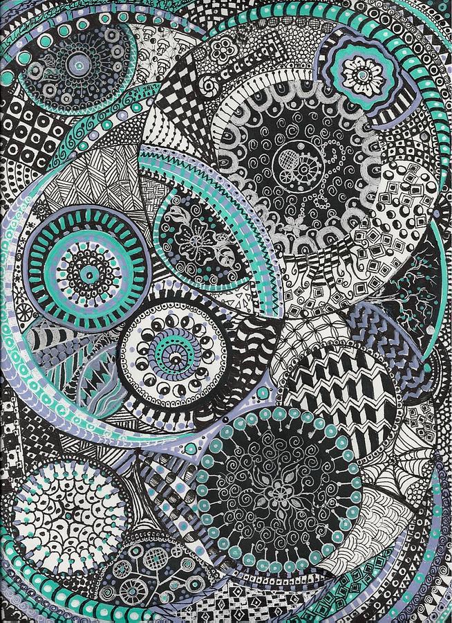 Zentangle Drawing - Zentangle by Lynne Howard