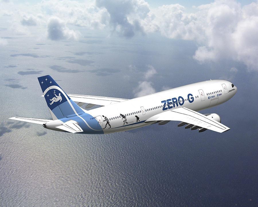 Zero-g Photograph - Zero-g Airbus Aircraft, Artwork by David Ducros
