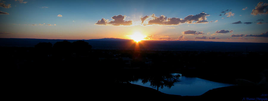 Tanoan Country Club Photograph - Zia Sun Over Tanoan by Aaron Burrows