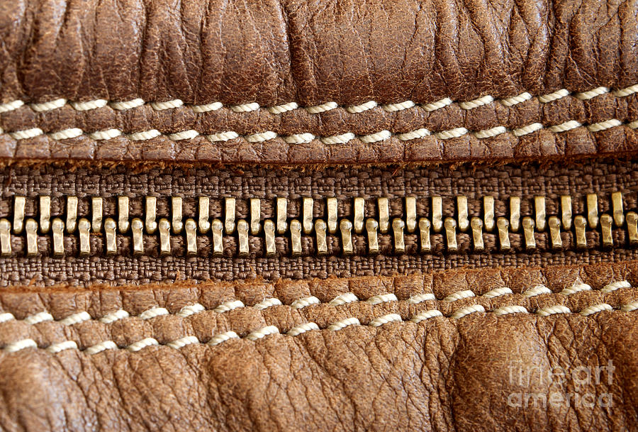 Abstract Photograph - Zipper And Leather Detail by Blink Images