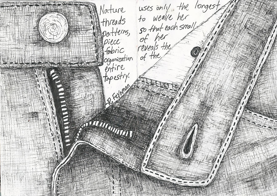 Zipper Drawing by William Cauthern