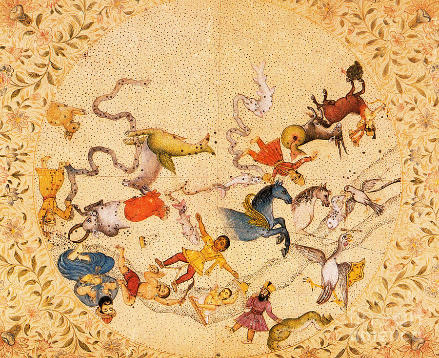Zodiac Photograph - Zodiac Signs From Indian Manuscript by Science Source