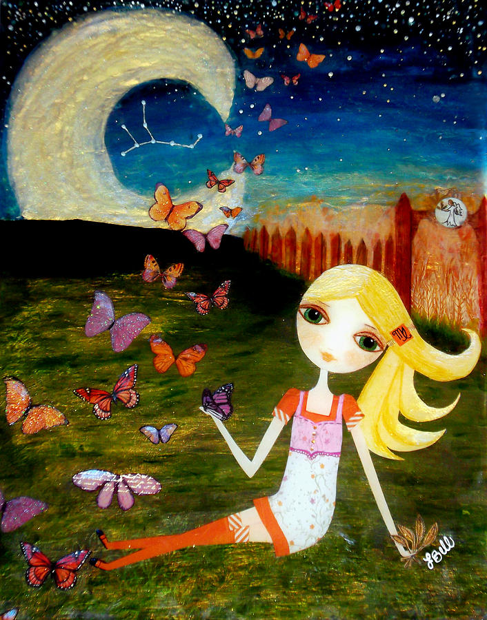 Zodiac Painting - Zodiac Virgo by Laura Bell