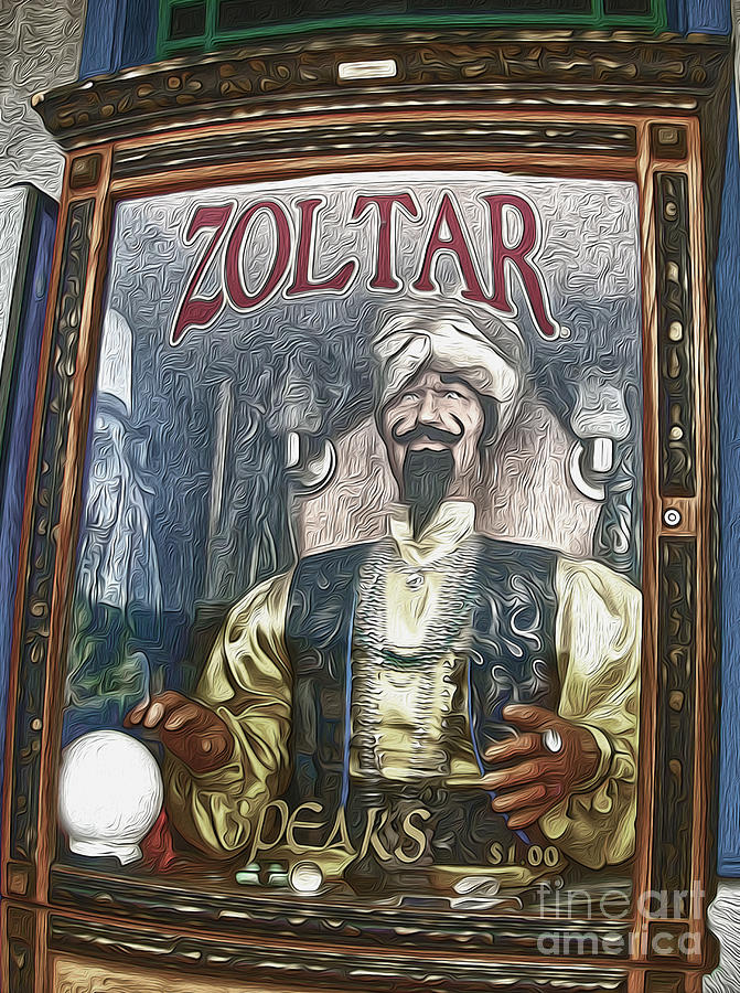 Zoltar Painting - Zoltar The Fortune Teller by Gregory Dyer
