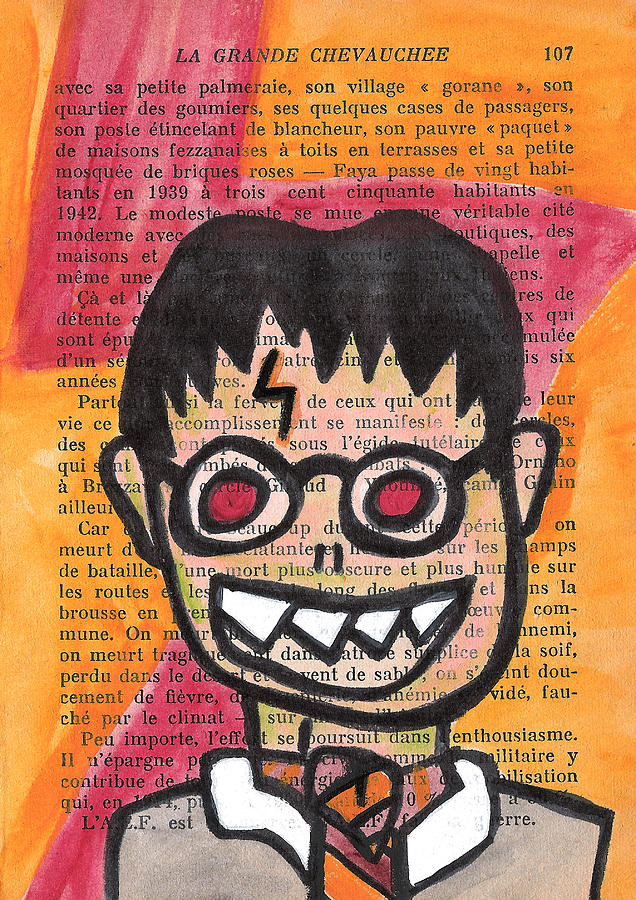 Harry Potter Mixed Media - Zombie Harry Potter by Jera Sky