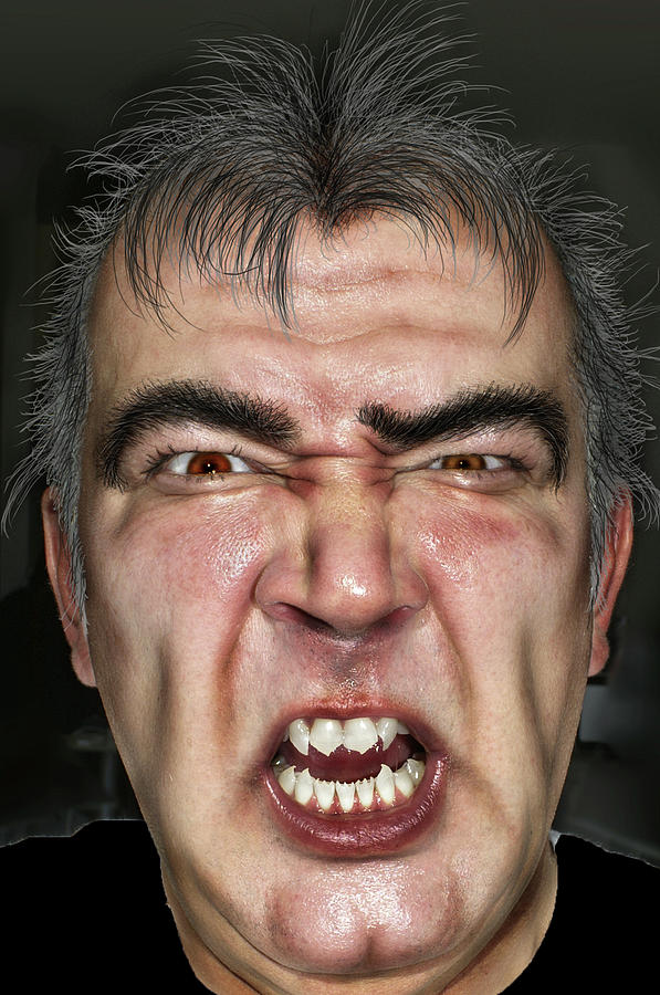 Face Photograph - Zombie  by Henri Irizarri
