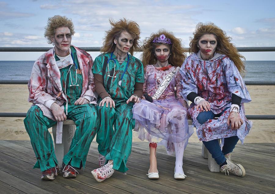 Zombies Photograph - Zombie Medical Family by Andrew Kazmierski