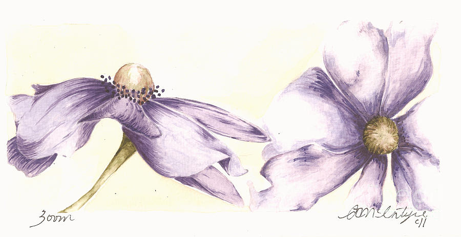 Flower Painting - Zoom by Amanda McIntyre