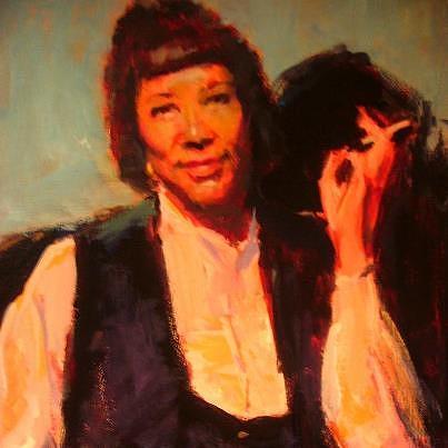 Portraits Painting - Zora Neale Hurston by Berto Ortega