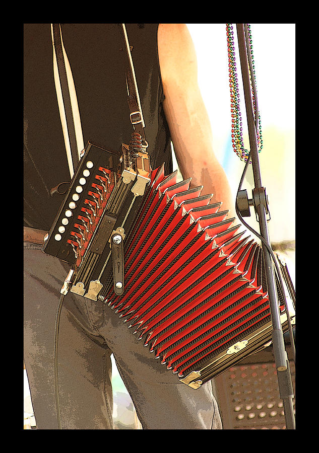 Music Photograph - Zydeco Red Accordian by Margie Avellino