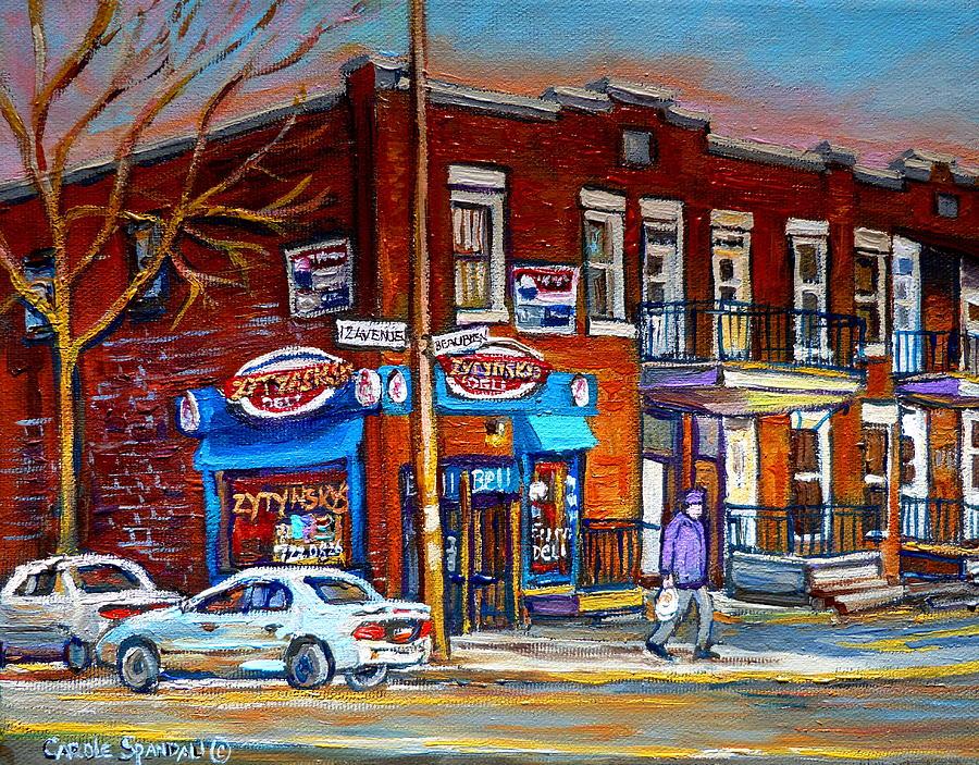 Delis Painting - Zytynskys Deli Montreal by Carole Spandau