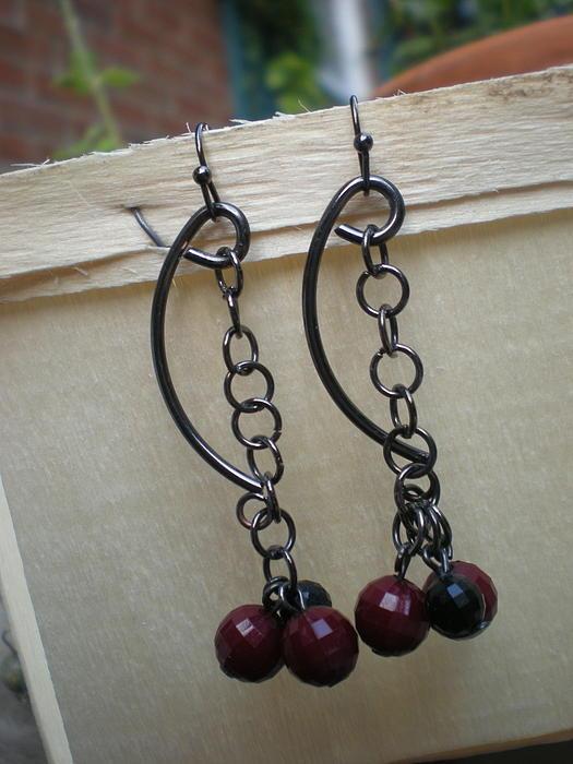 Beth Sebring -  Link Gun Metal Earrings