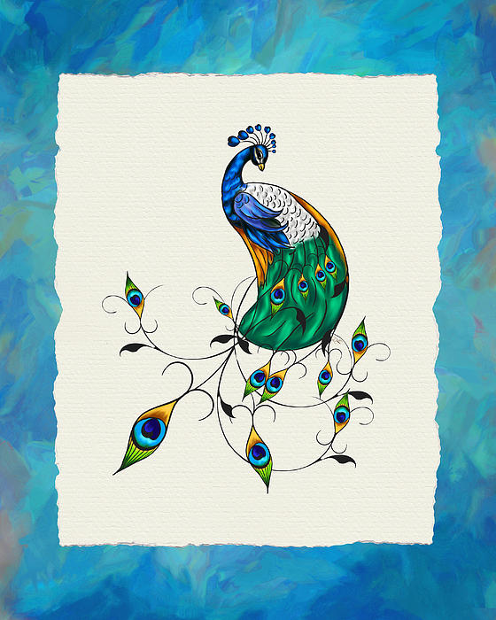 Jai Johnson - Peacock and Feathers