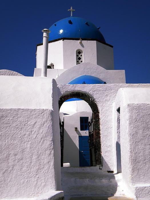Colette V Hera  Guggenheim  - Santorini church greece