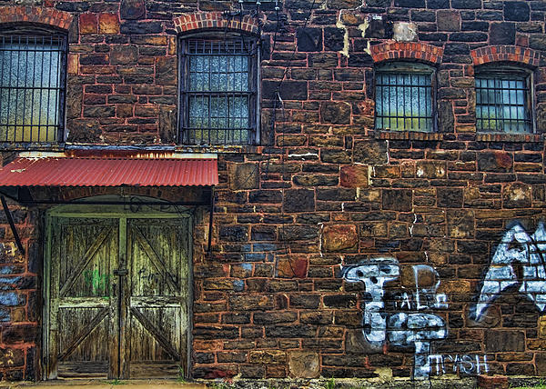 Kathy Clark - Abandoned Building with Graffiti