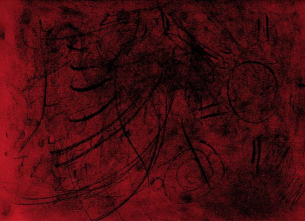 Shannon Story - Abstract in Red and Black