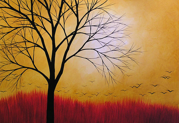 Amy Giacomelli - Abstract Original Tree Painting SUMMERS ANTICIPATION by Amy Giacomelli