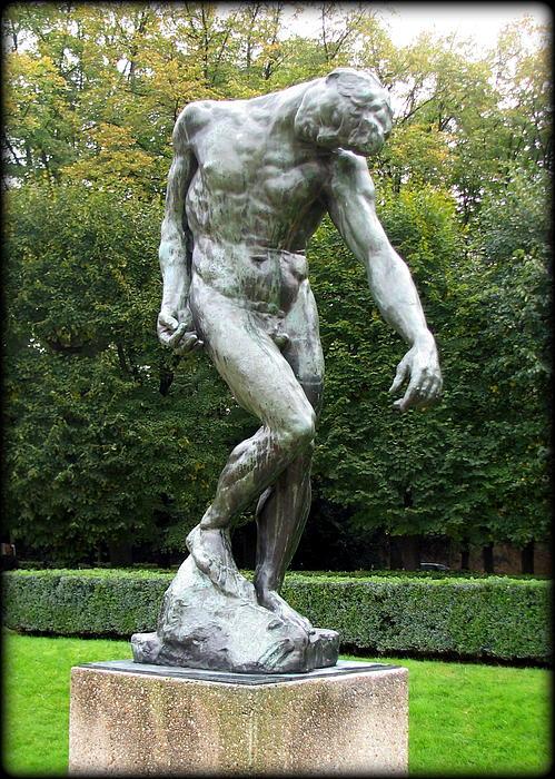 Carla Parris - Adam Sculpture by Rodin
