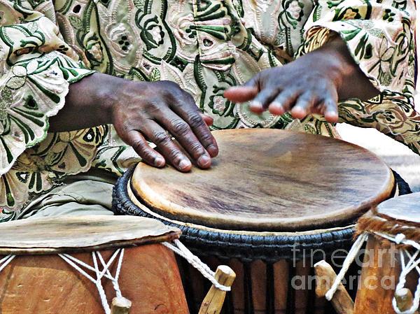 African Drum Rhythm Spiral Notebook