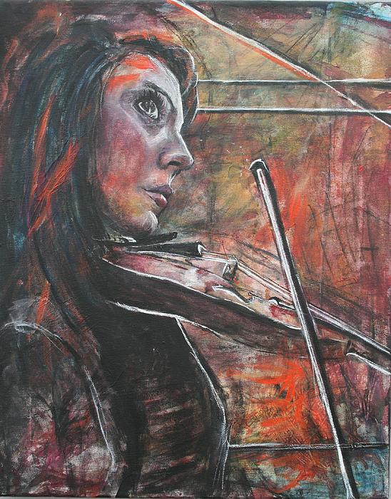 Molly Markow - Andrea with violin