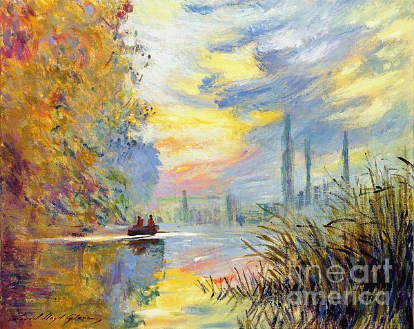 David Lloyd Glover - Argenteuil Evening - sur les traces de Monet