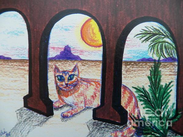 Judy Via-Wolff - Banjo in the Desert Sunrise