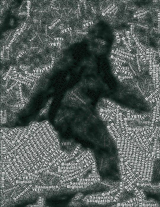 Paul Van Scott - Bigfoot Word Mosaic