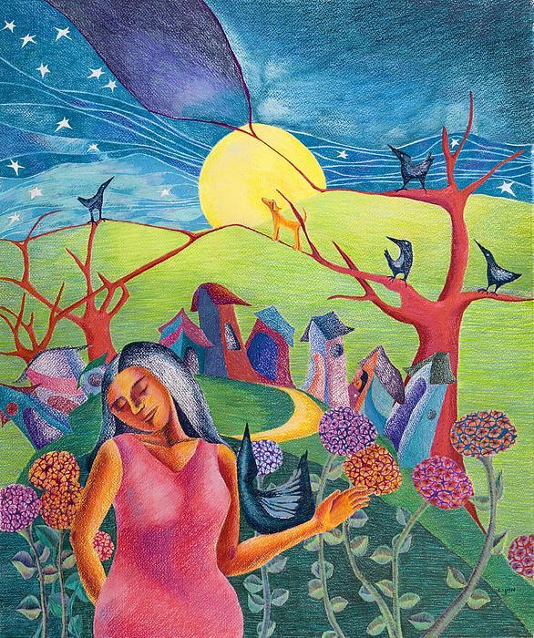Lynn Nadal - Blackbird at Night