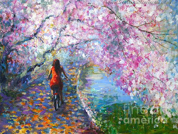 Svetlana Novikova - Blossom Alley landscape
