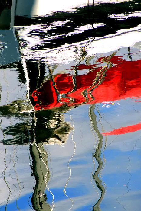 Eileen Brabender - Boat Reflections 1