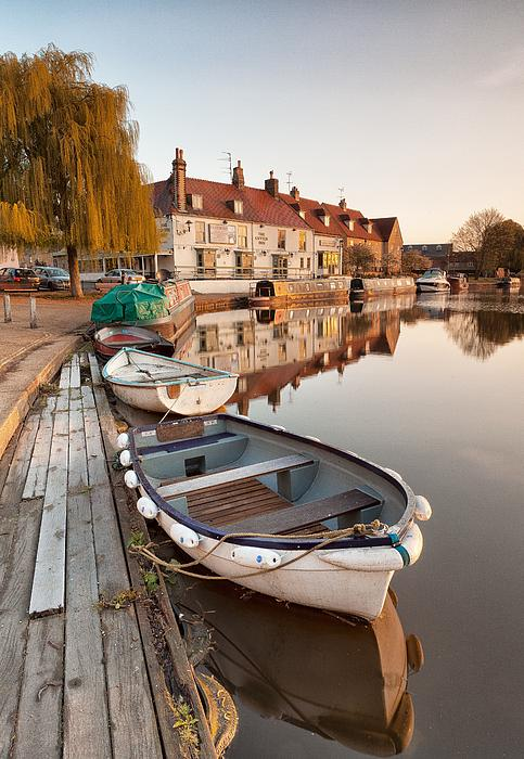 George Johnson - Boats on the Ouse