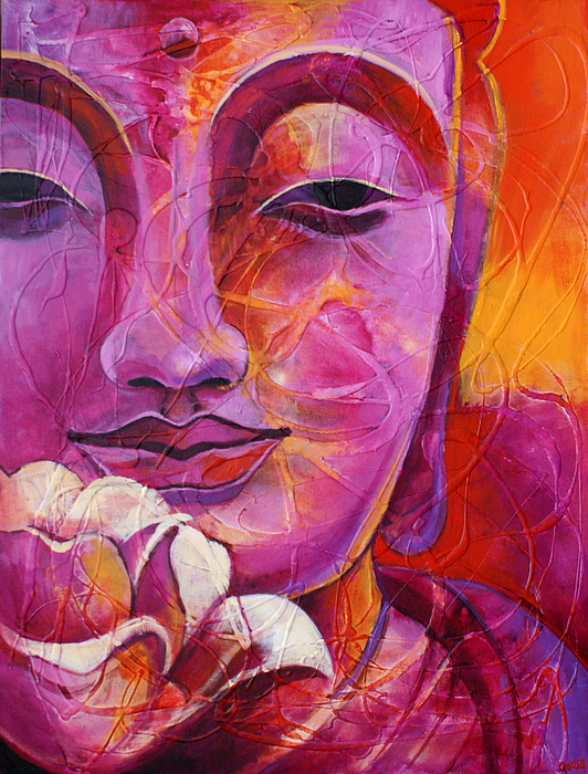 Buddha with lotus flower greeting card for sale by paulina garoa mightylinksfo