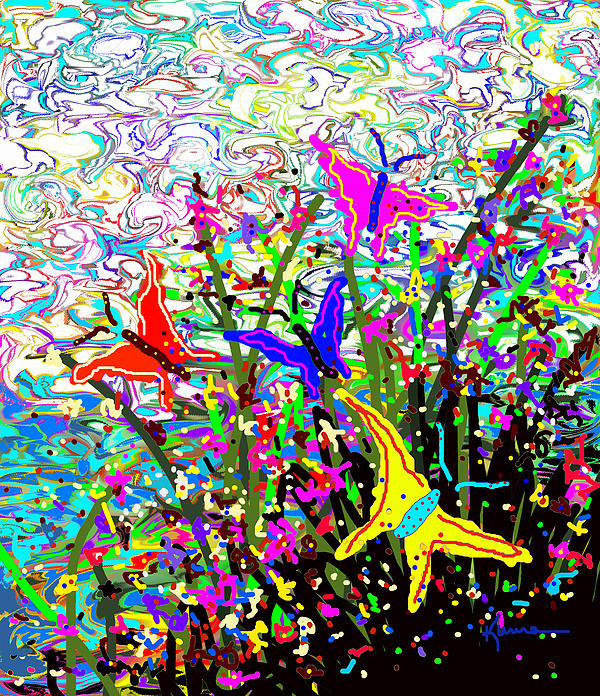 Kume Bryant - Butterflies in the Garden