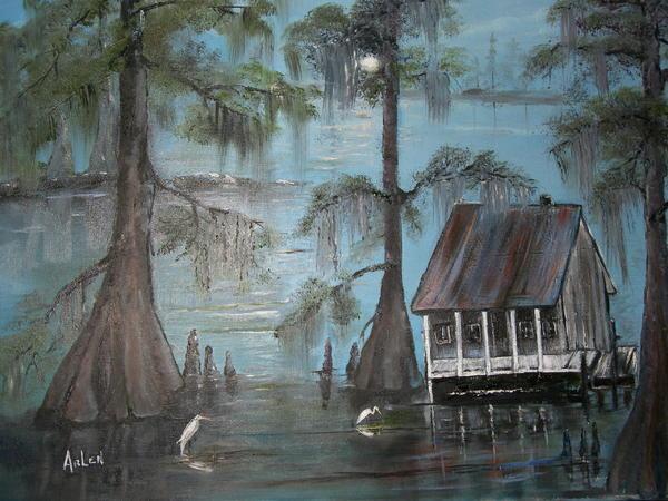Arlen Avernian Thorensen - Cajun home on the bayou